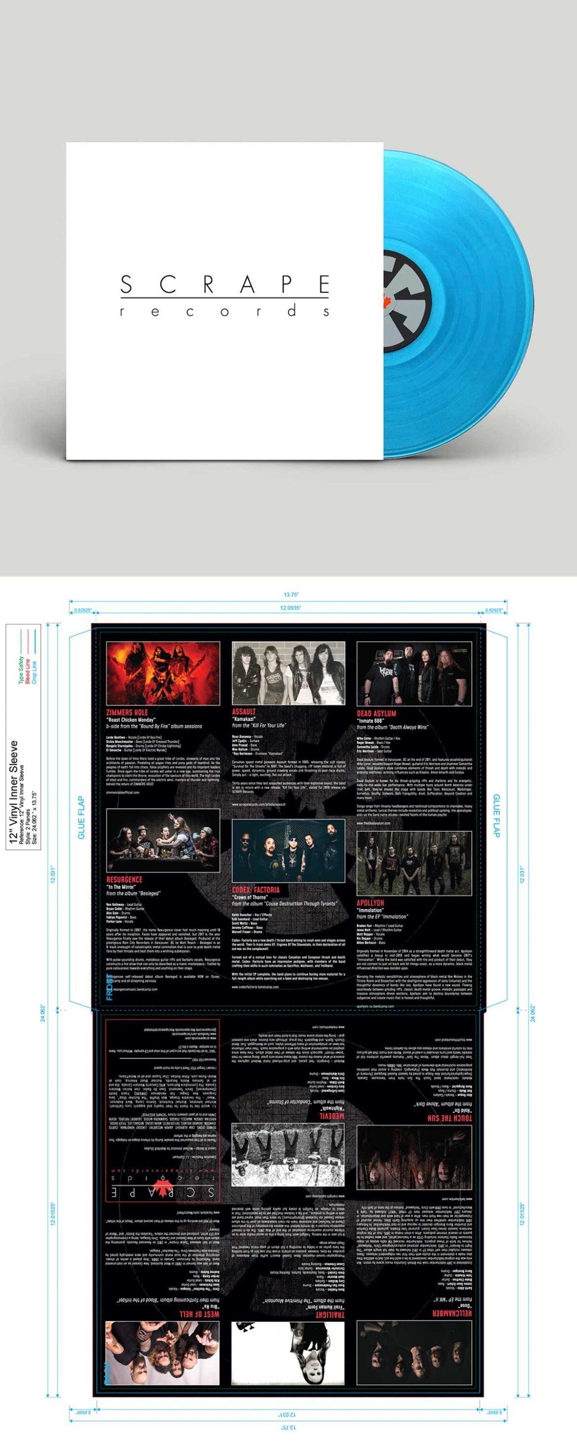 SCRAPE Records: Vinyl Packaging Design by MykillinK Studios