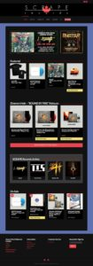 SCRAPE Records: Record Label Website by MykillinK Studios