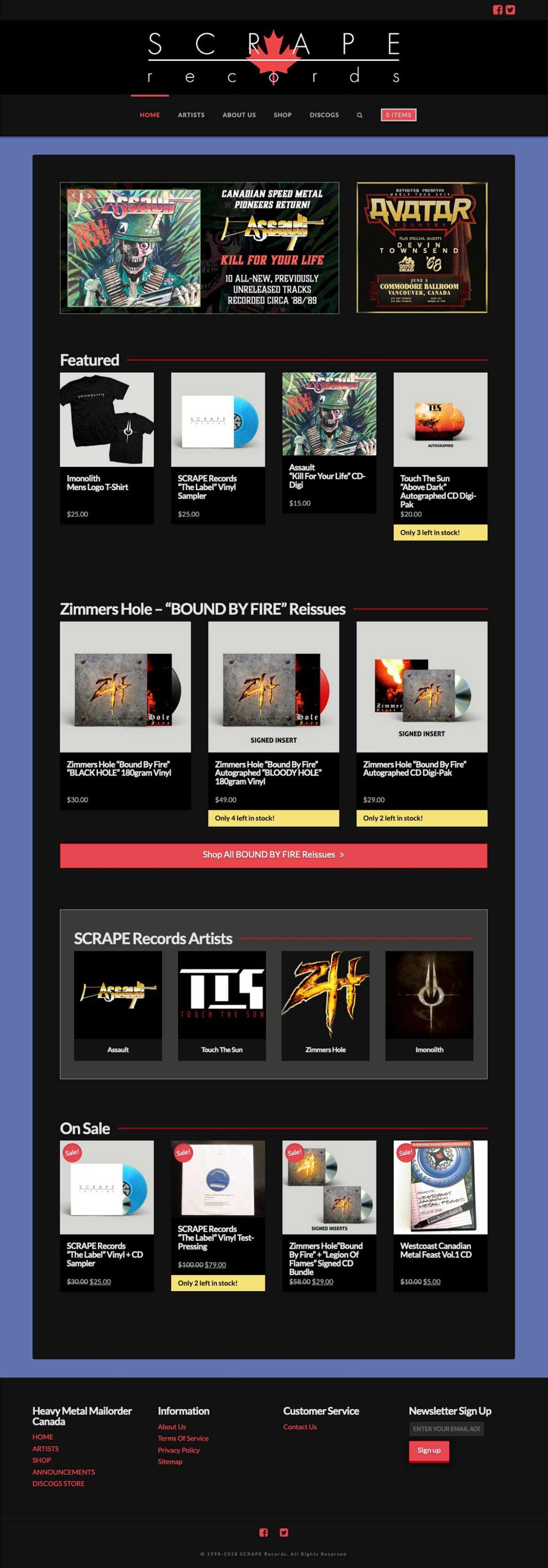 SCRAPE Records: Record Label Website by MykillinK Studios