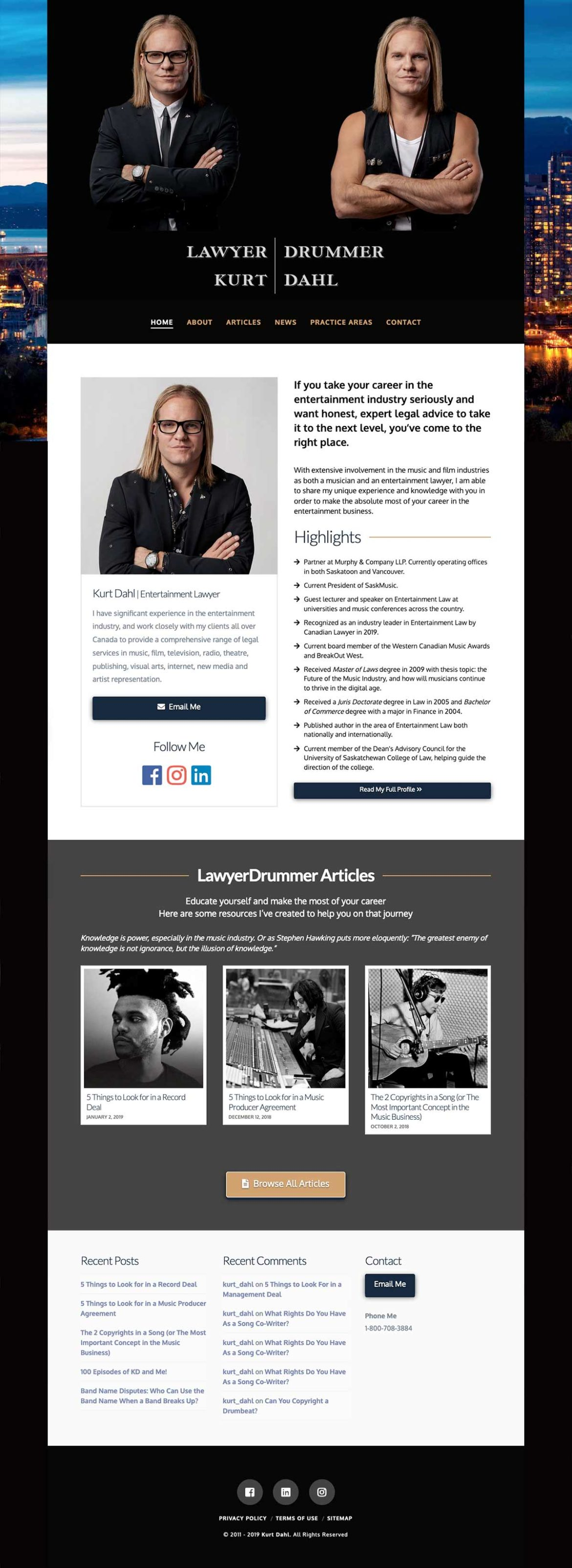 LawyerDrummer: Website by MykillinK Studios